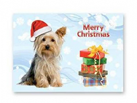 YORKSHIRE  TERRIER CHRISTMAS CARD